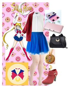 """Pretty Soldier Sailor Moon Modern Day: Usagi Tsukino (Sailor Moon)"" by becka-ramey ❤ liked on Polyvore featuring Alexander Wang, Karen Scott, P.A.R.O.S.H., Erica Weiner, Nintendo and modern"