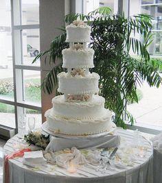 tarta de boda con varios pisos