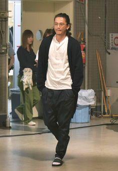 Japan Fashion, Boho Fashion, Mens Fashion, Streetwear Fashion, Gq, Fall Outfits, Street Wear, Handsome, Actors