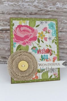 Wonderful card shared with us by Jessica Pascarella using our Vintage Bliss collection