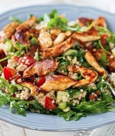 Sally Bee Harissa Chicken with Quinoa Salad