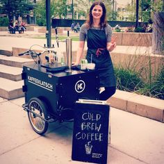 Come meet new coldbrew courier, Kimberly! You can find her today at Harley Hotchkiss Gardens. The pop-up at CommunityWise is also open until 3! #kaffeeyyc #coldbrewyyc #coffee