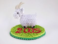 3d Origami Goat - Symbol of the New Year 2015 Celebrate the Year of the Goat with this 3d origami carefully handcrafted by me. This 3d