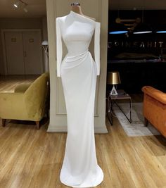 white evening dresses long sleeve modest simple mermaid elegant cheap formal dresses vestido de festa - 2020 New Prom Dresses Fashion - Fashion Of The Year Elegant Dresses Classy, Elegant Dresses For Women, Classy Dress, Beautiful Dresses, Simple Dresses, Elegant White Dress, Cheap Formal Dresses, Prom Dresses, Wedding Dresses