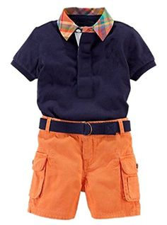 EASY Little Boys' 2 Piece Button Polo Shirt and Belt Pockets Shorts Set 5T blue - Material:Cotton Greatly for warmth and comfort.   Size details: Chinese 2T: Length:14.17″(36cm) Bust:22.04″(56cm) Sleeve:3.93″(10cm) Long pants:12.20″(31cm) Hip:21.25″(54cm) Chinese 3T: Length:14.96″(38cm) Bust:22.83″(58cm) Sleeve:4.33″(11cm) Long... - http://ehowsuperstore.com/bestbrandsales/clothing/easy-little-boys-2-piece-button-polo-shirt-and-