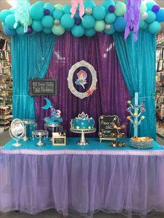 onderland first birthday Mermaid Theme Birthday, Little Mermaid Birthday, Girl Birthday Themes, Fairy Birthday Party, Birthday Parties, Mermaid Party Decorations, Girl Baby Shower Decorations, Mermaid Parties, Birthday Party Decorations