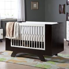 Dutailier Convertible Crib and Conversion Kit modern cribs