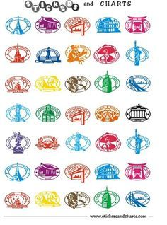 FREE Printable Stickers ~ Can be used for Passports etc.