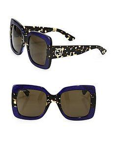 2f533dc2360 Gucci - 54MM Oversized Square Colorblock Sunglasses