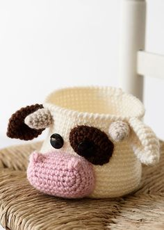 Crochet Cow, Crochet Books, Cotton Crochet, Love Crochet, Crochet Motif, Crochet Yarn, Crochet Animal Patterns, Stuffed Animal Patterns, Crochet Animals