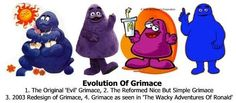 The Evolution of Grimace; article by popcultureaddict linked on click through.