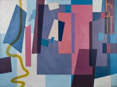 Sam Vanni: Punaisia pintoja, 1957, öljy, 98 x 130 cm. Hagelstam.