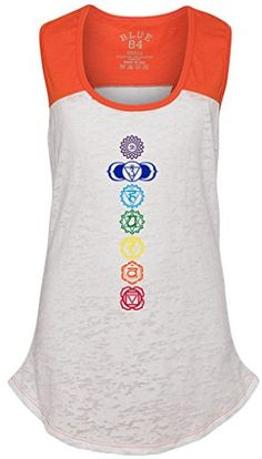 ... on Yoga Women s Clothing by Elena Adamek. See more. from amazon.com ·  Juniors COLORED CHAKRAS Burnout Sleeveless Tee XL WhiteOrange     Want to  know ... 1bfdaeaee