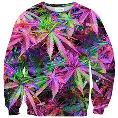 Sweatshirts - Rainbow Weed Sweater Sweater Making, Warm And Cozy, Make You Smile, Weed, Tie Dye, Rainbow, Sweatshirts, Rap, Sweaters