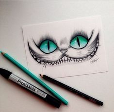 Love love love this Cheshire Cat (Alice in Wonderland) drawing. Favorite thing to draw! Alice in Wonderland Amazing Drawings, Cool Drawings, Drawing Sketches, Amazing Art, Drawing Ideas, Hipster Drawings, Sketching, Drawing Tips, Awesome