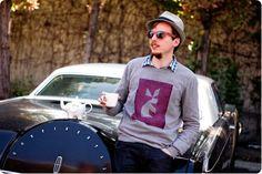 DIY Tanagram Sweater with sun reactive paint