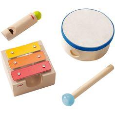 HABA small sound workshop wooden musical instrument set - hardtofind.