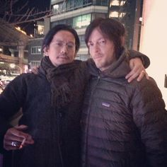 #PuffyReedus hanging with his friend Kun in Tokyo last night. (kunichi_nomura's