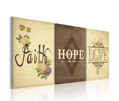 Tableau design Faith, Hope & Love
