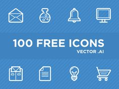 100 Free Vector Icons AI