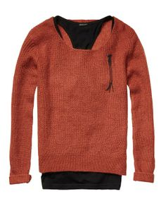 2-In-1: Lightweight Knitted Sweater, scotch and soda