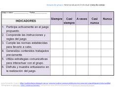 Lista de cotejo: instrumento para evaluar actividades de grupo. English Class, Teacher Hacks, Writing Skills, Kids Education, Vocabulary, Classroom, School, Social, Google