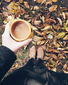 autumn sunday coffee november winter is coming brown yellow black