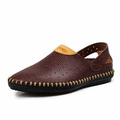 Summer Fashion Brand Men's Loafers Top Quality Genuine Leather Flats Men Handmade Breathable Brown Shoes Free Shipping