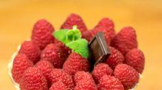Małgorzata Kocińska: Krem straciatella  z musem malinowym Raspberry, Fruit, Food, Eten, Raspberries, Meals, Diet