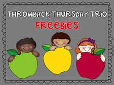 Free each Thursday by Teach 123 and Fern Smith Classroom ideas, a Throwback Thursday free product of the day, check weekly!