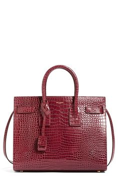 Saint Laurent  Small Sac de Jour  Croc Embossed Calfskin Leather Tote    Nordstrom 55997a65cd