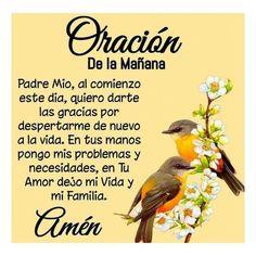 Mom Prayers, Prayers For Healing, Morning Prayers, Everyday Prayers, Spanish Inspirational Quotes, Inspirational Prayers, Spanish Quotes, Prayer Quotes, Faith Quotes