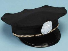 Complete your child's police Halloween costume with our Child's Policeman Hat! This costume accessory hat fits most children from infancy to about 10 yrs old, and features the rim and badge accessory. Your child will have fun pretending to be a police officer at any party!