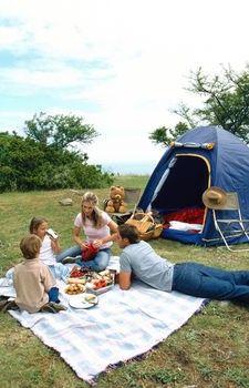 Camping Recipes for a Crowd (Turkey Barley Soup, Skillet Scramble, Macaroni and Cheese, Banana Boats)
