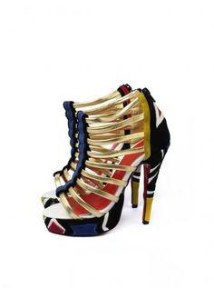 #womenshoes  Exotic Open Toe Multicolor Sandals