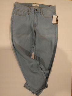 NEW $480 JOHN GALLIANO Pants Jeans Blue Wash Cotton Blend Slim Fit Denim s.W26