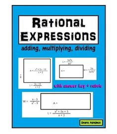 Operations with rational expressions gone fishin game algebra simplifying rational expressions activity fandeluxe Choice Image