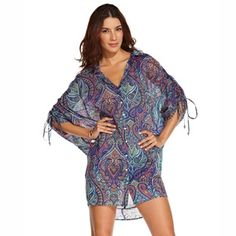 COPACABANA - ondademar.comCotton silk printed over sized blouse. Gathering sleeve https://ondademar.com/catalog/product/copacabana-2/