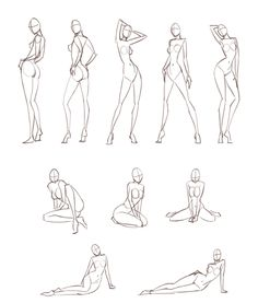 Cuerpo -- body sketches Must practise these basic croquiis