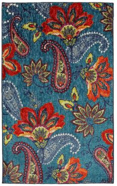 Mohawk Home New Wave Whinston Printed Rectangular Indoor Rugs, Color: Multi - JCPenney Floral Area Rugs, Blue Area Rugs, Cost Of Carpet, Synthetic Rugs, Mohawk Home, Area Rug Runners, Rectangular Rugs, Rugs Usa, Indoor Rugs