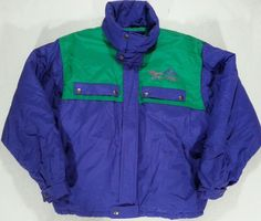 Vintage FILA MAGIC LINE Green Purple Retro JACKET Ski Coat ITALY - Large L #Fila #BasicJacket Green And Purple, Skiing, I Shop, Rain Jacket, Windbreaker, Italy, Magic, Retro, Coat