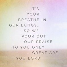 "What are you listening to? Have you heard ""Great Are You Lord"" by All Sons & Daughters? #worshiplyrics #lyricart #worship"