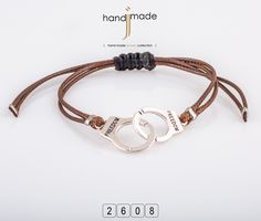 Ανδρικό δερμάτινο βραχιόλι Handmade Jewelry, Personalized Items, Bracelets, Collection, Bracelet, Hand Print Ornament, Bangles, Handmade Jewellery, Bangle
