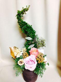 christmas tree arrange クリスマスツリー アレンジメント バラ