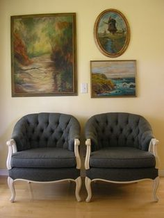 Bergere chairs I sold on Craig's List.