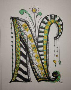Cool art doodle lettering, alphabet и lettering Doodle Art Letters, Doodle Art Journals, Doodle Lettering, Drawing Letters, Creative Lettering, Letter Art, Typography, Zentangle Drawings, Doodles Zentangles