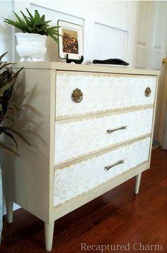 Lace Stencilled Dresser