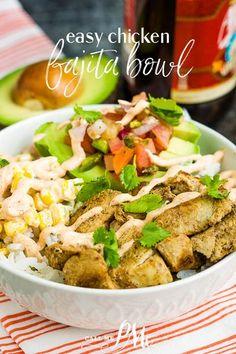 Fajita Bowl Recipe, Fajita Bowls, Recipe Using Chicken, Chicken Recipes, Homemade Fajita Seasoning, Quick Easy Healthy Meals, Easy Dinner Recipes, Simple Recipes, Easy Dinners