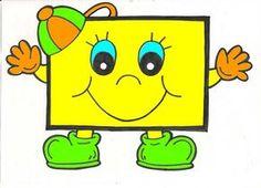 ESPAÇO EDUCAR: Formas geométricas divertidas e coloridas!                                                                                                                                                                                 Mais Alphabet Letter Crafts, Alphabet For Kids, Mathematics Geometry, Kindergarten Art Lessons, Shapes For Kids, Teaching Aids, School Decorations, Vintage Paper Dolls, Drawing For Kids