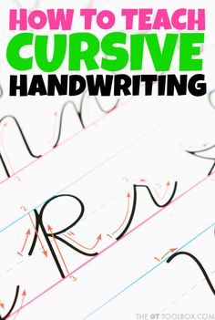 Many times parents and teachers struggle with how to teach cursive handwriting. These cursive tips, cursive writing tools, and handwriting activities will help kids learn to write in cursive. Learn To Write Cursive, Handwriting Activities, Improve Your Handwriting, Improve Handwriting, Cursive Handwriting, Cursive Letters, Handwriting Practice, Penmanship, Nelson Handwriting